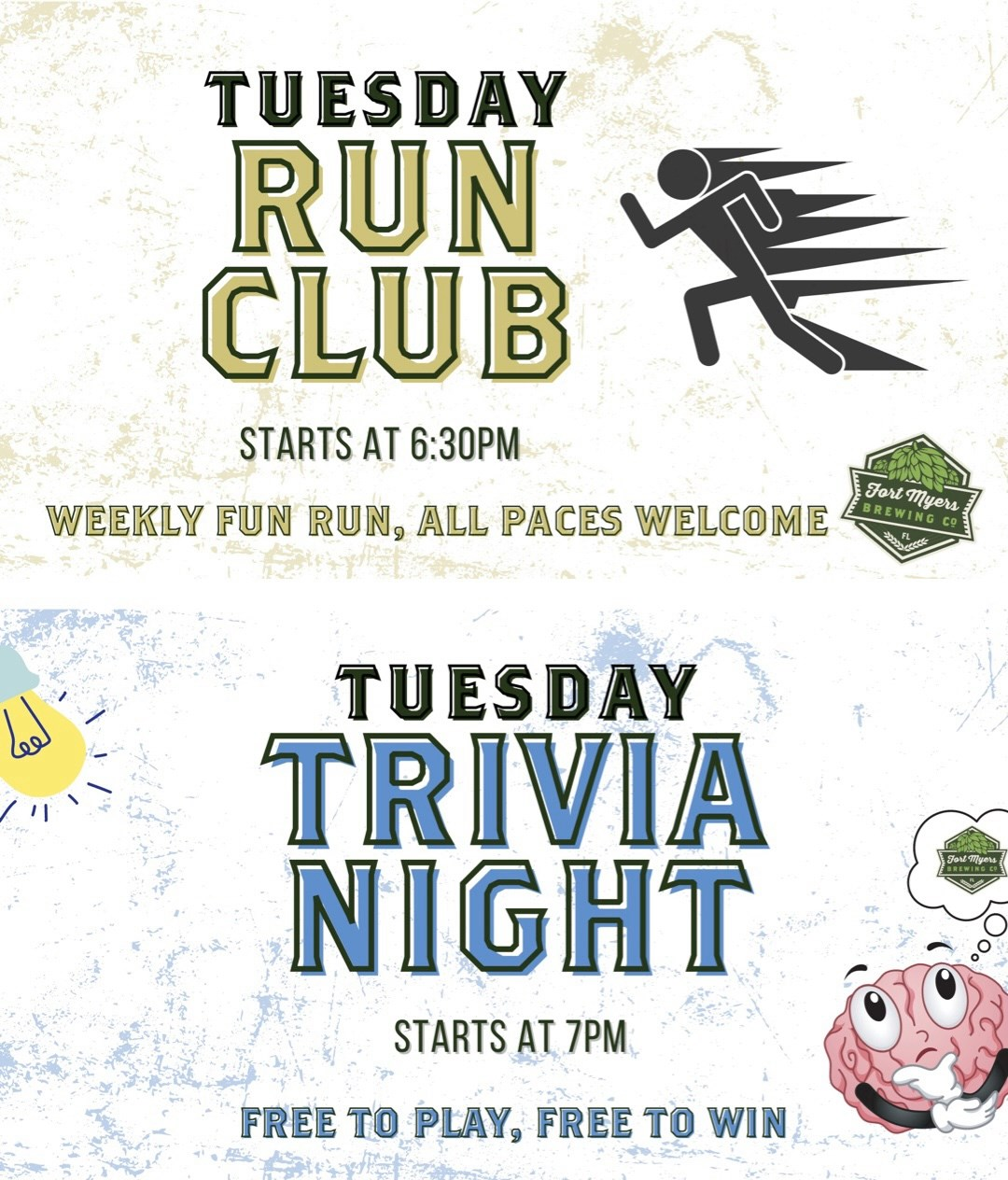 Put your body and mind to the test tonight! Join our 5k fun run at 6:30 with our